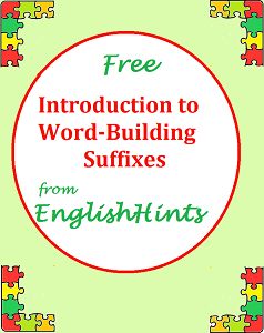 Cover for free introduction to word-building suffixes with a colorful puzzle piece border