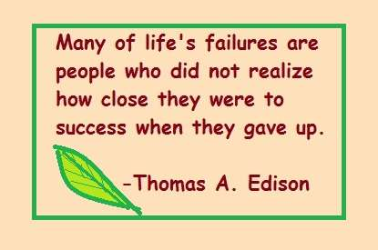 quote from Thomas Edison: