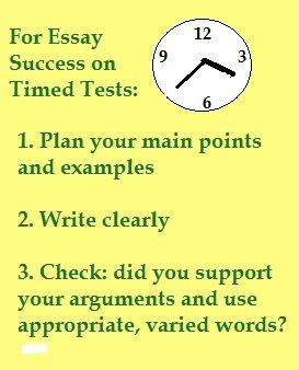 Sample timed essay prompts