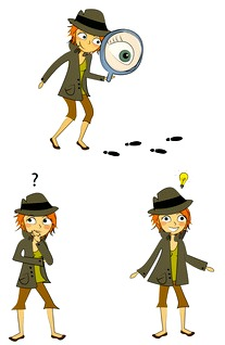 3 views of a girl detective