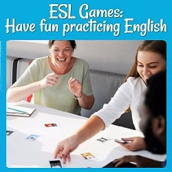 ESL Games: Have Fun Practicing English Picture of several ladies playing a game matching cards.
