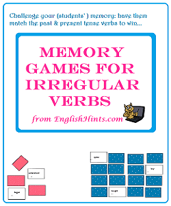 cover for the printable memory card games pdf