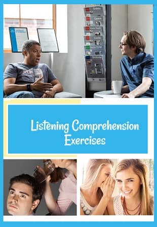 Photos of people listening to a friend or partner.
