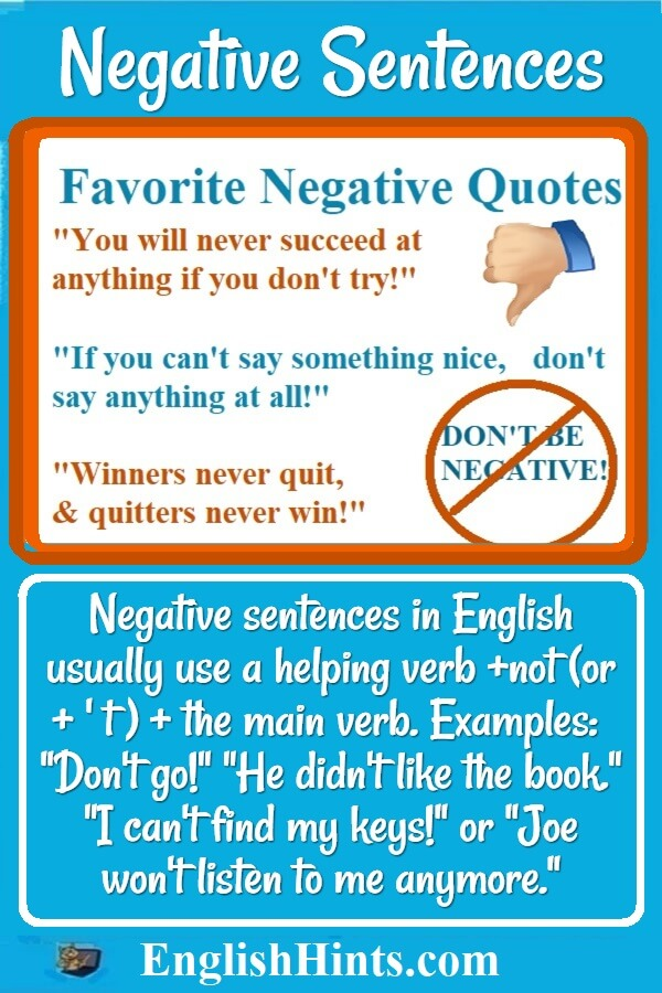 3 favorite negative quotes (including