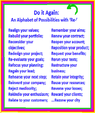 alphabetical listing of business phrases starting with the prefix 're'  (