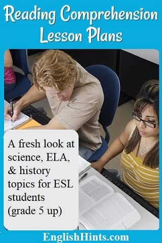 Intermediate Reading Comprehension Lesson Plans With A