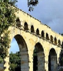 3 arches of an old Roman aquaduct.