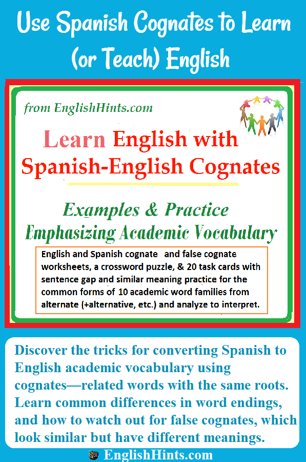 Learn English From Spanish Cognates