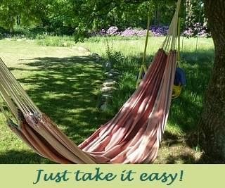 picture of a hammock with a caption
