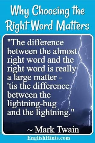 Lightning & a Mark Twain quote: