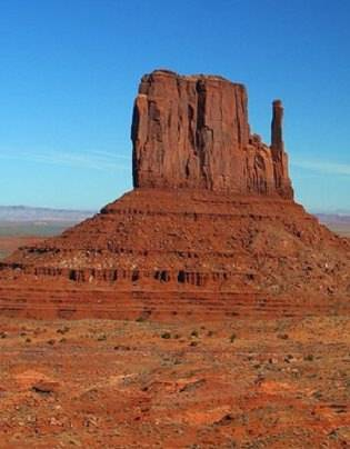 a photo from Monument Valley-- Tony Hillerman country.