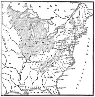 U.S. map around 1800