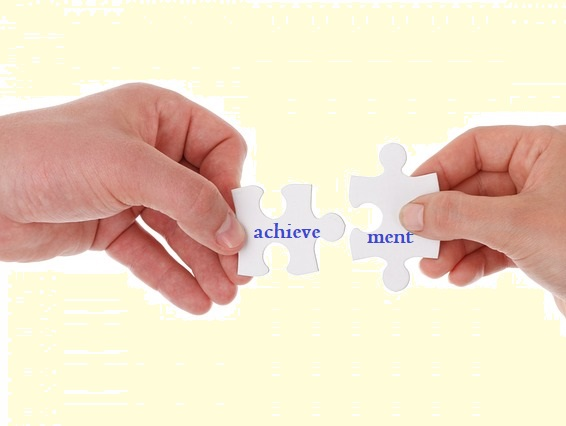 word formation: matching puzzle pieces for 'achieve' with 'ment'